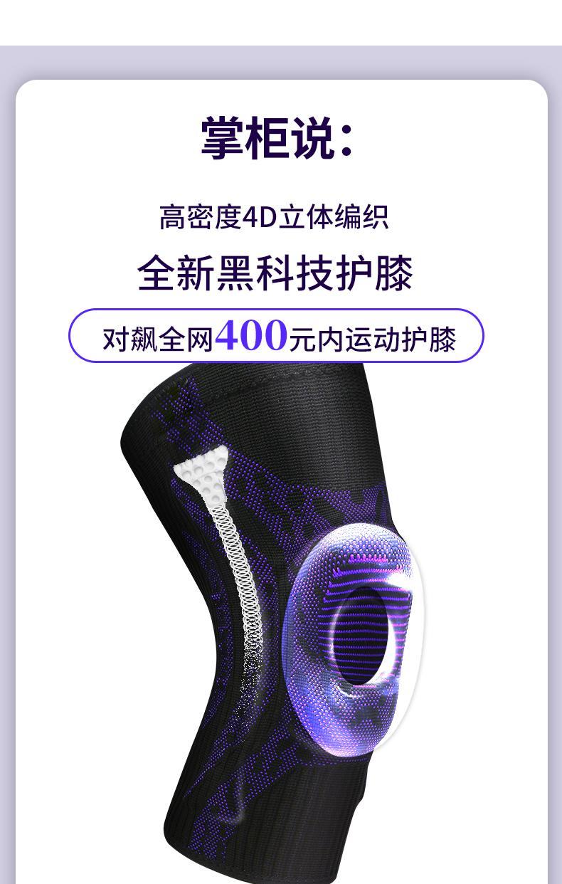 CBA赞助商 维动 专业运动健身护膝1双 图5