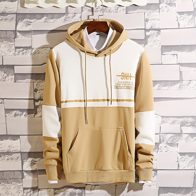 Men's hooded hooded Korean version of the trend Hong Kong wind ins spring and autumn long-sleeved loose-fitting young student men's jacket 52 Online shopping Bangladesh