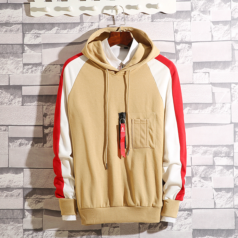 Men's hooded hooded Korean version of the trend Hong Kong wind ins spring and autumn long-sleeved loose-fitting young student men's jacket 55 Online shopping Bangladesh