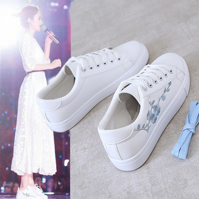 Little white shoes female 2021 spring new wild flat board shoes tide shoes spring casual shoes spring shoes sports shoes women's shoes