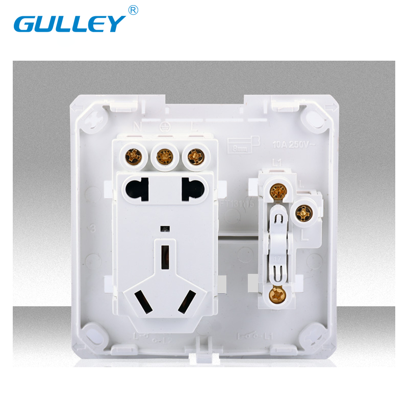 USD 5.17] Household switch socket Surface Mounted 15-hole two open ...