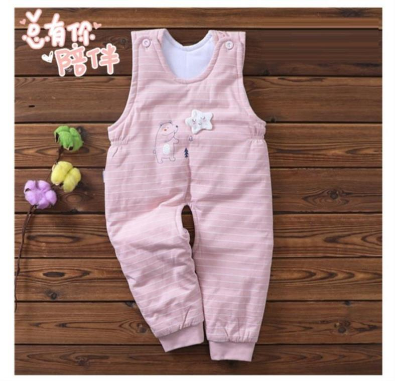 Pants spring and autumn girl eight-month-old baby carry pants autumn outer wear autumn clothing warm 2019 male baby 4
