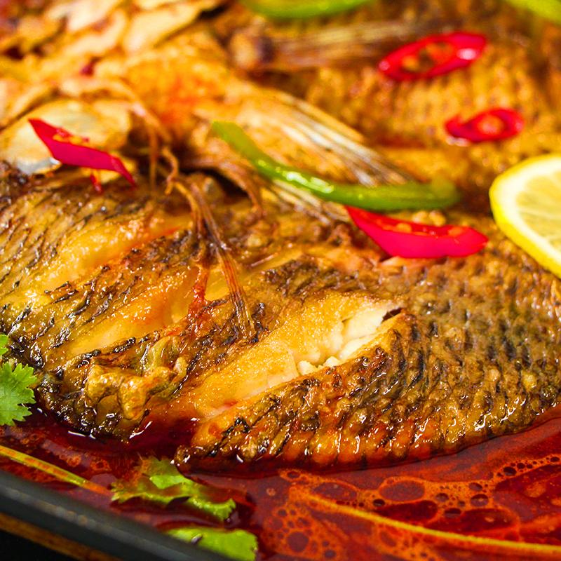 主播推荐即食烤鱼半成品腌制家庭方便菜烧烤火锅罗非鱼含酱料包邮