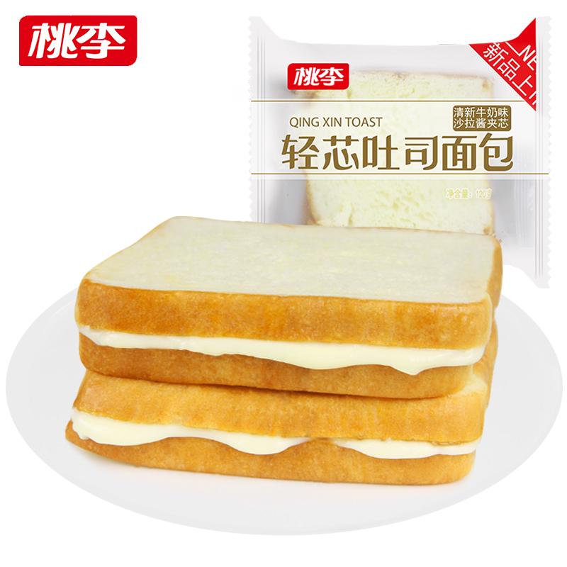 桃李轻芯吐司面包600g
