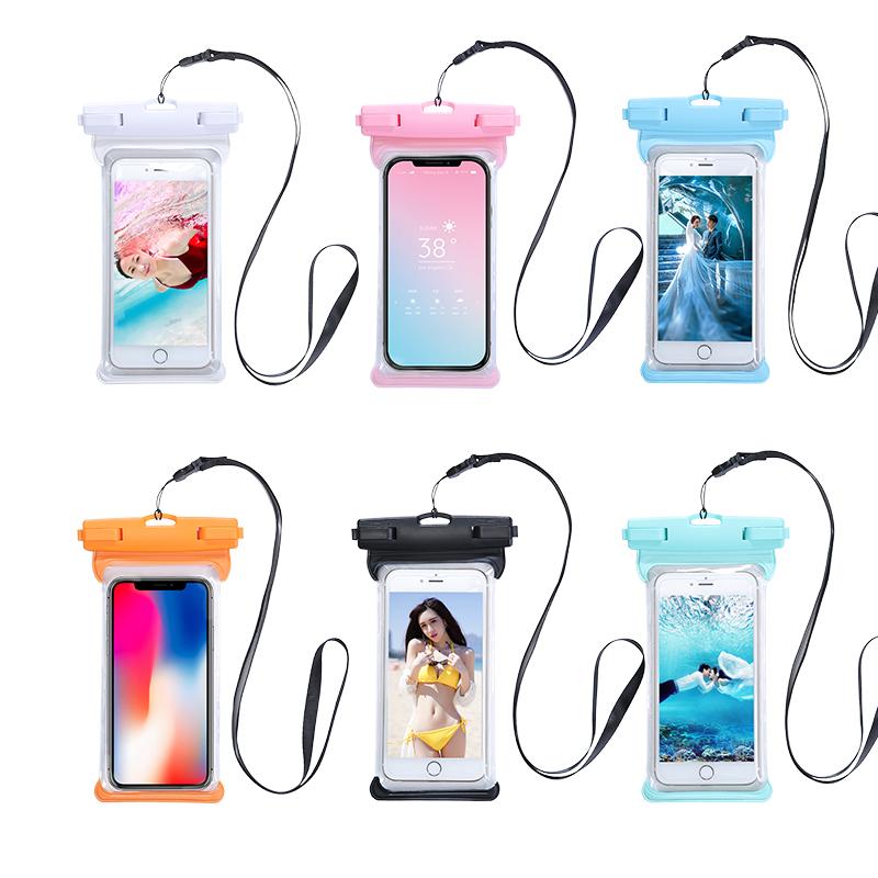 手机防水袋潜水套触屏苹果挂脖游泳可水下保护防雨oppo通用漂流包