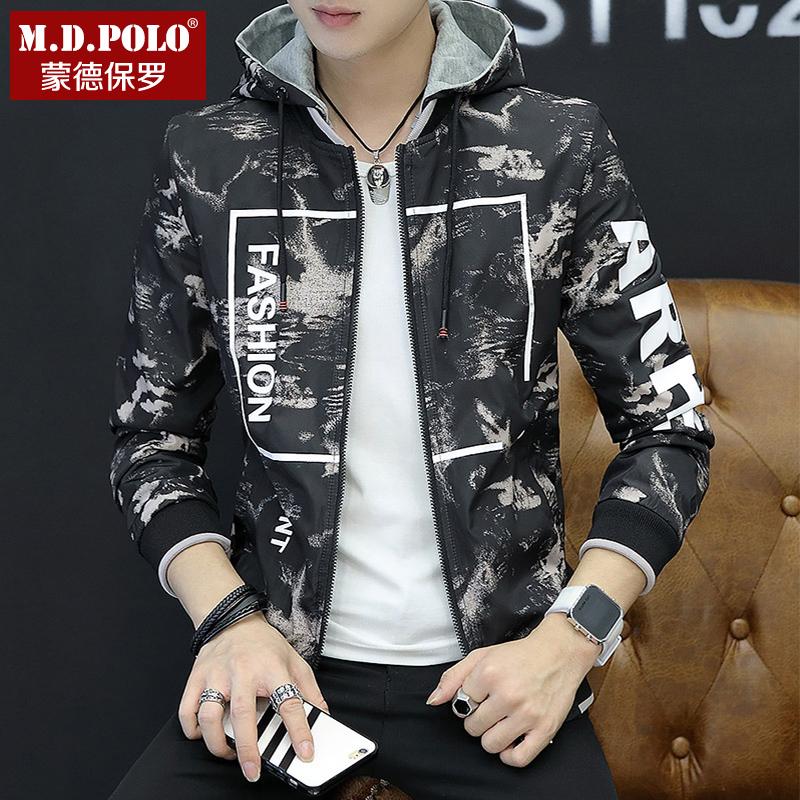 【自营】双面穿男士外套冬装2018新款男夹克韩版潮流学生上衣时尚