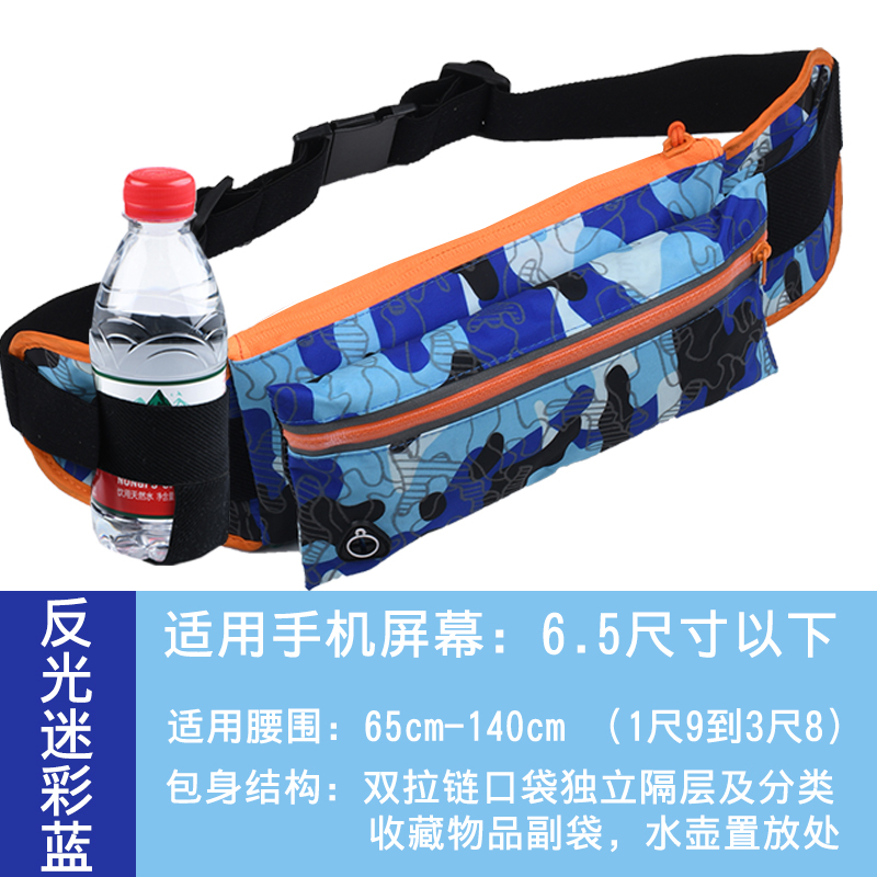 DOUBLE POCKET - REFLECTIVE CAMOUFLAGE BLUE (KETTLE WATERPROOF)