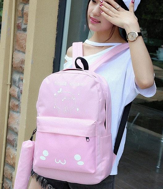 。韩版小学生书包4-5-6年级初中帆布双肩包女生大童旅游背包休