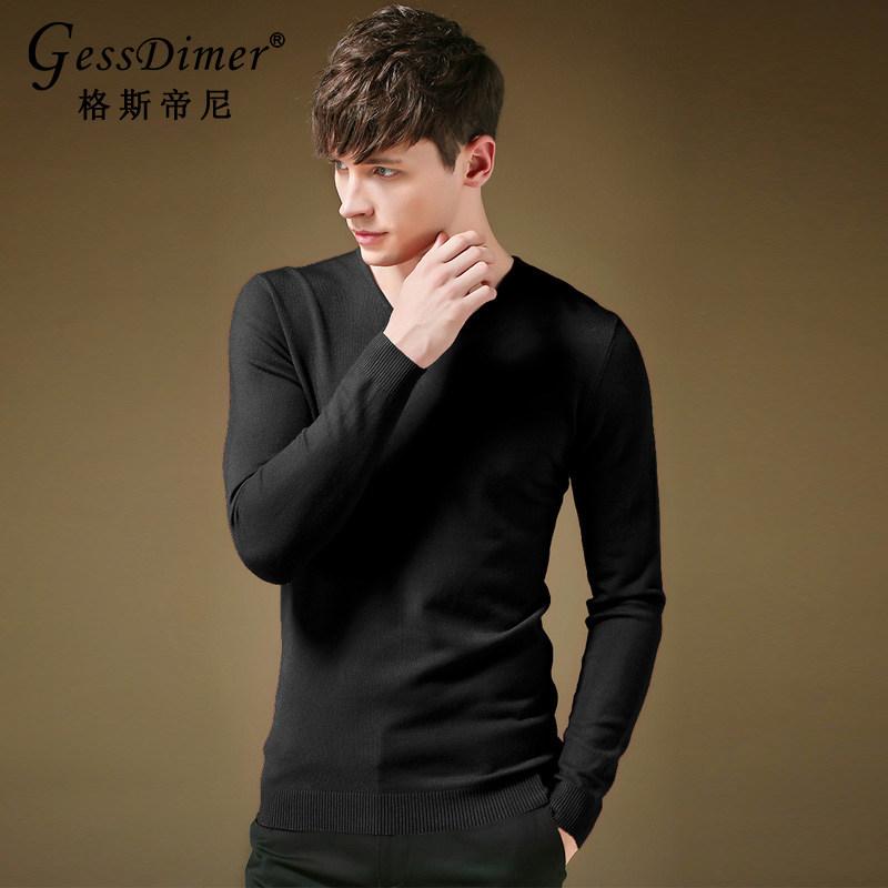 【格斯帝尼】纯色修身V领针织衫