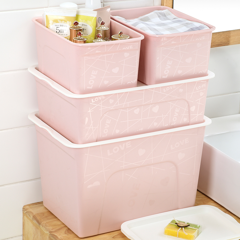 Desktop Plastic Storage Box Clothes Storage Box Extra Large Thickening Storage  Box Storage Box Clearance Three Sets Of Cover