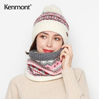 Carnam Magno Hat Scarf Two Women Winter Cap Rate Cute Knitting Set Outdoor Thick Bib