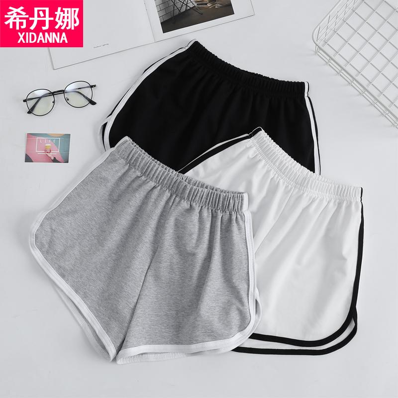 夏季女运动跑步瑜伽阔腿沙滩短裤