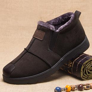 老人鞋男防滑软底老头鞋男棉加绒东北冬季爷爷鞋老北京布鞋老头鞋