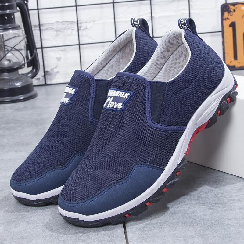 男鞋中年人男40老北京布鞋男休闲鞋爸爸男士懒人秋季鞋子男人秋鞋