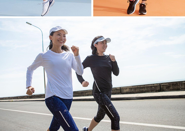 迪卡侬训练防晒速干宽松打底长袖健身跑步女运动服T恤上衣RUNW商品详情图