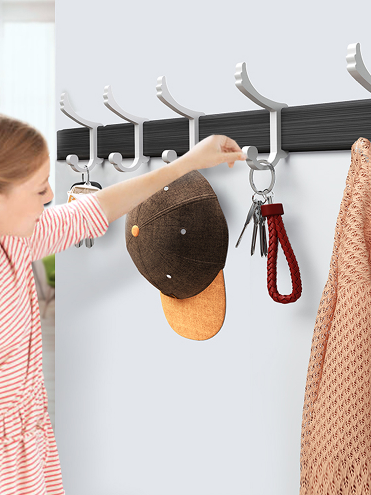 After the door hook strong adhesive free punch stick hook load-bearing clothes wall hangers wall coat hook no trace nails