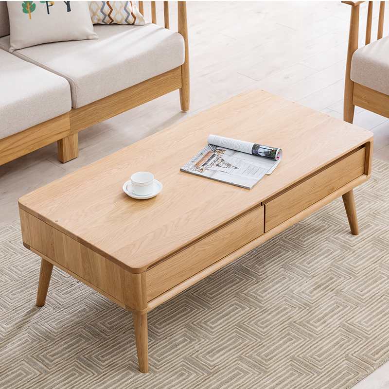 780e6d17bcaa USD 811.79] Nordic style solid wood coffee table small Japanese ...