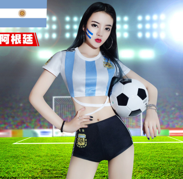 World Cup National Football Baby Jersey Female Cheerleader Costume