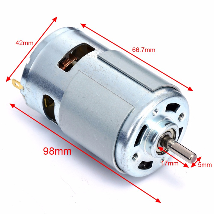 775 round shaft DC motor 12V 12000 rpm ball bearing High speed and high  torque motor can be used to generate electricity