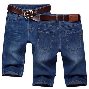 牛仔裤男薄款中裤男韩版牛仔短裤