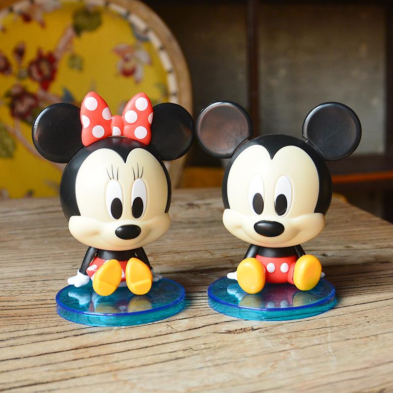 米奇米妮球形 拼装玩具公仔玩偶手办模型摆件蛋糕烘焙装饰