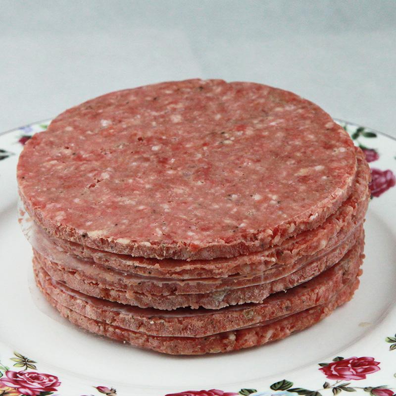 老马清真澳洲进口牛肉饼汉堡肉饼批发儿童早餐汉堡牛排1000克10片