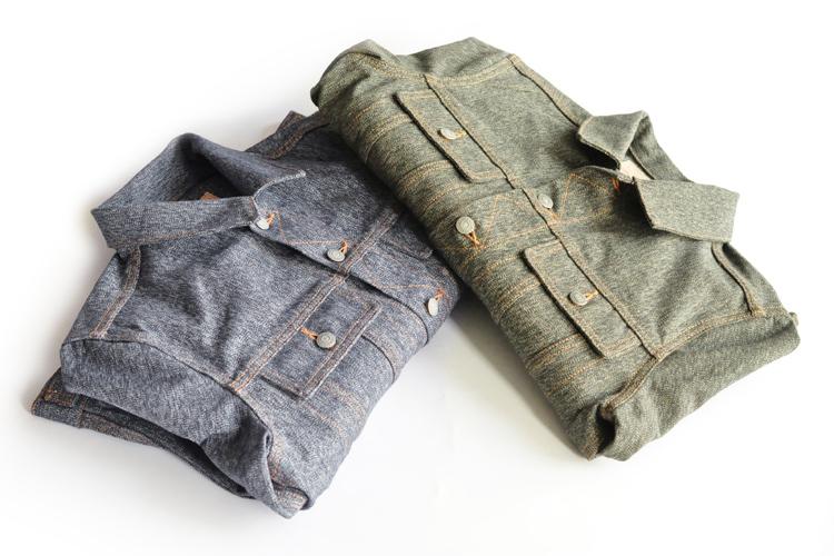 Dip nước sốt hạt tiêu muối áo khoác nặng retro bông denim jacket dụng cụ áo khoác áo đỏ tai