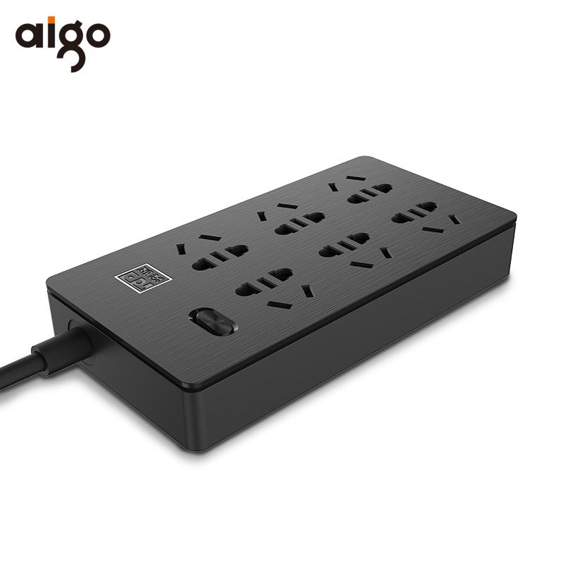 aigo爱国者突破插座新国标插排插线板带线USB家用多功能接拖线板_领取20元天猫超市优惠券