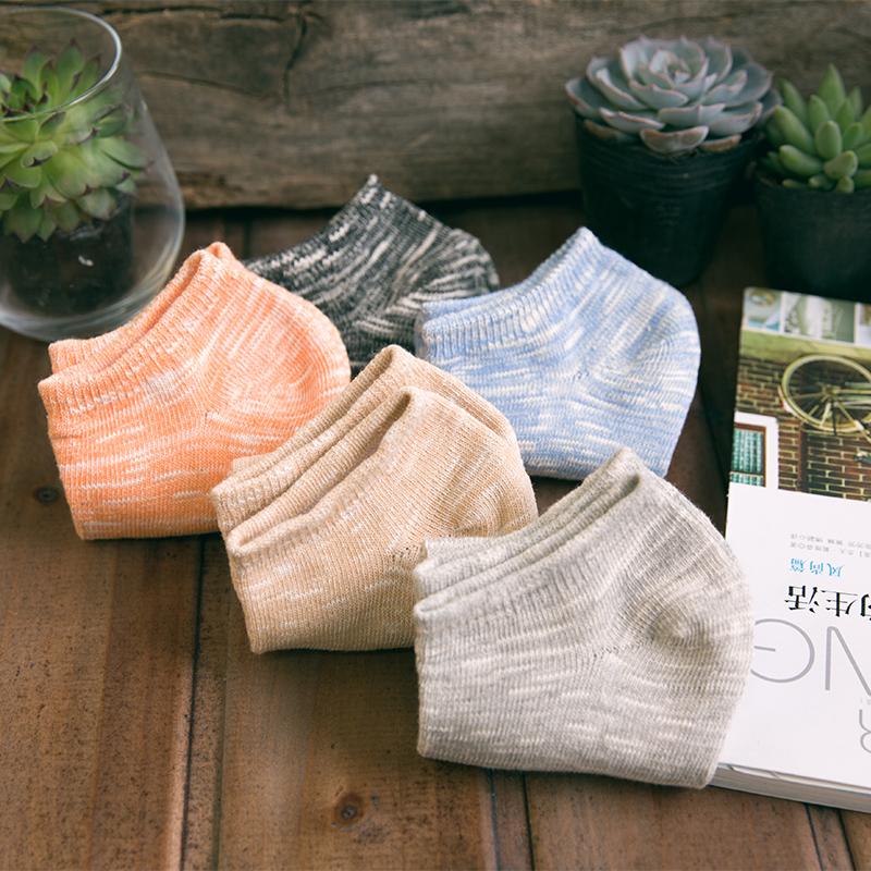 袜子男士棉袜短袜船袜男夏季薄款吸汗防臭隐形袜低帮带硅胶防滑