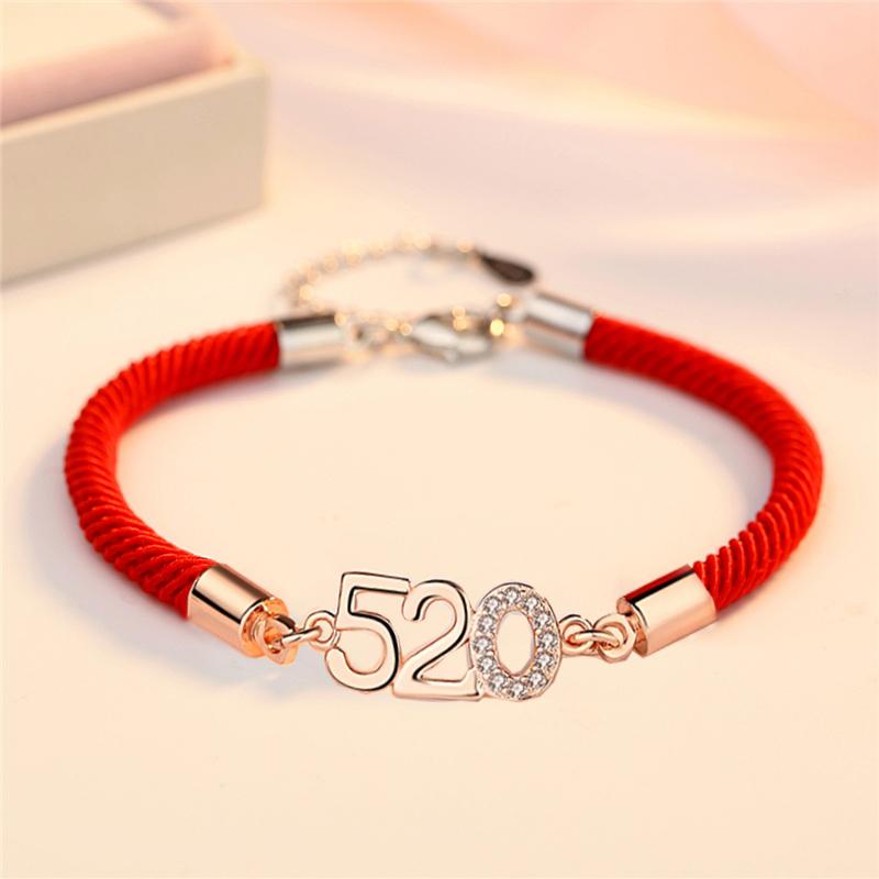 本命年情侣红绳幸运手链,送女友本命年礼物