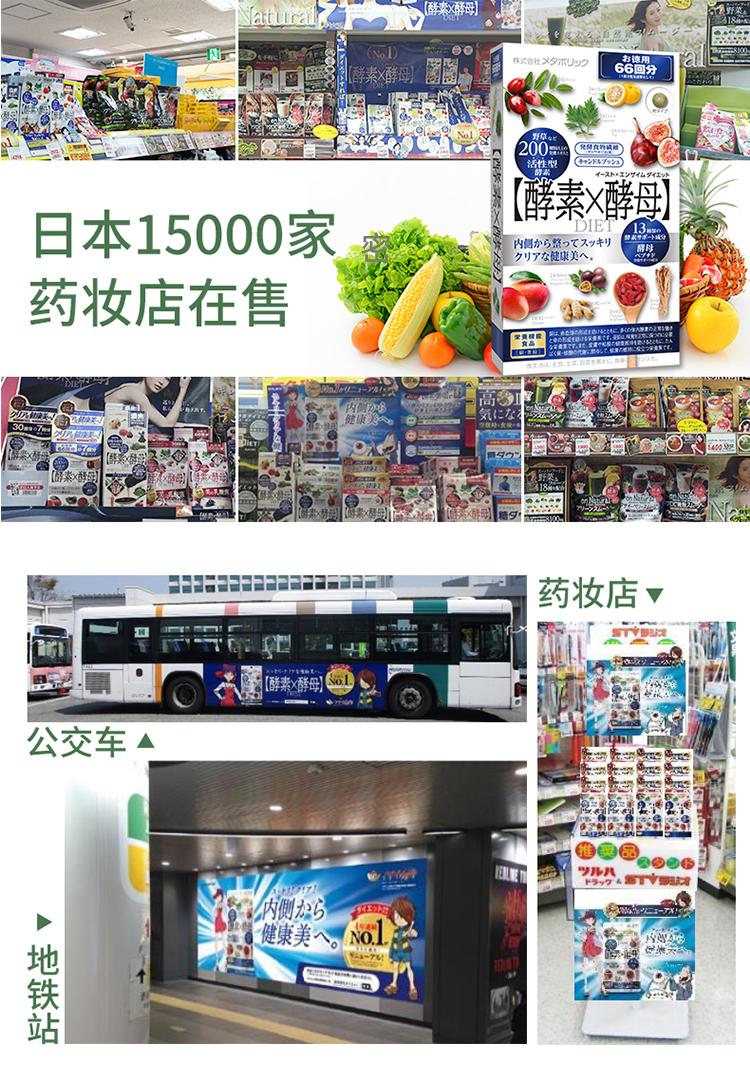 買二送一 買五送三 現貨 日本Metabolic 酵素X酵母66回分 水果活性發酵酵素 植物酵素 132粒 日本果蔬酵素