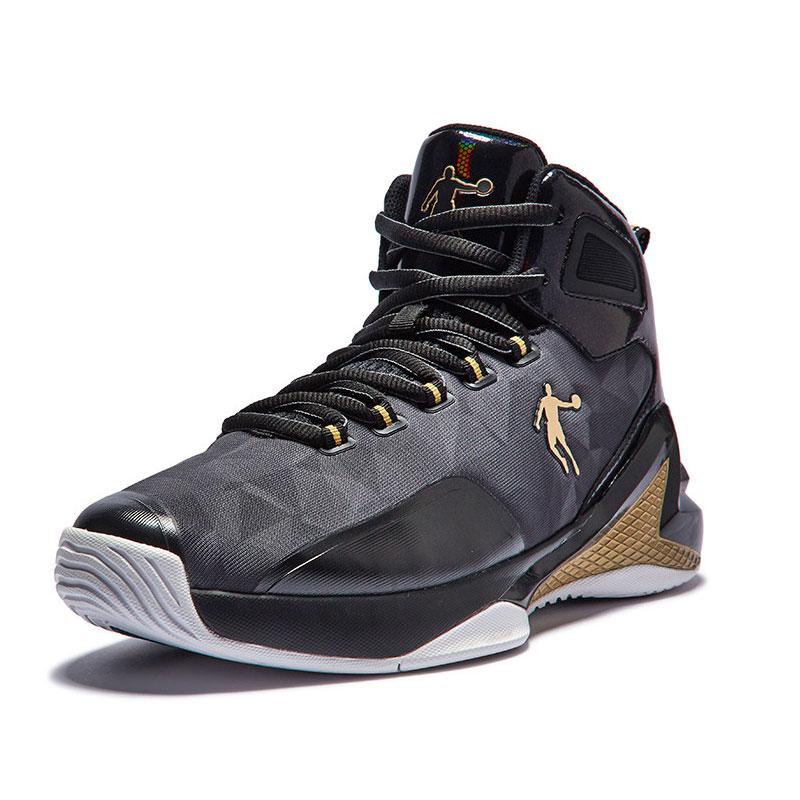 乔丹男鞋篮球鞋2019春季新款防滑减震运动鞋高帮球鞋篮球战靴Z
