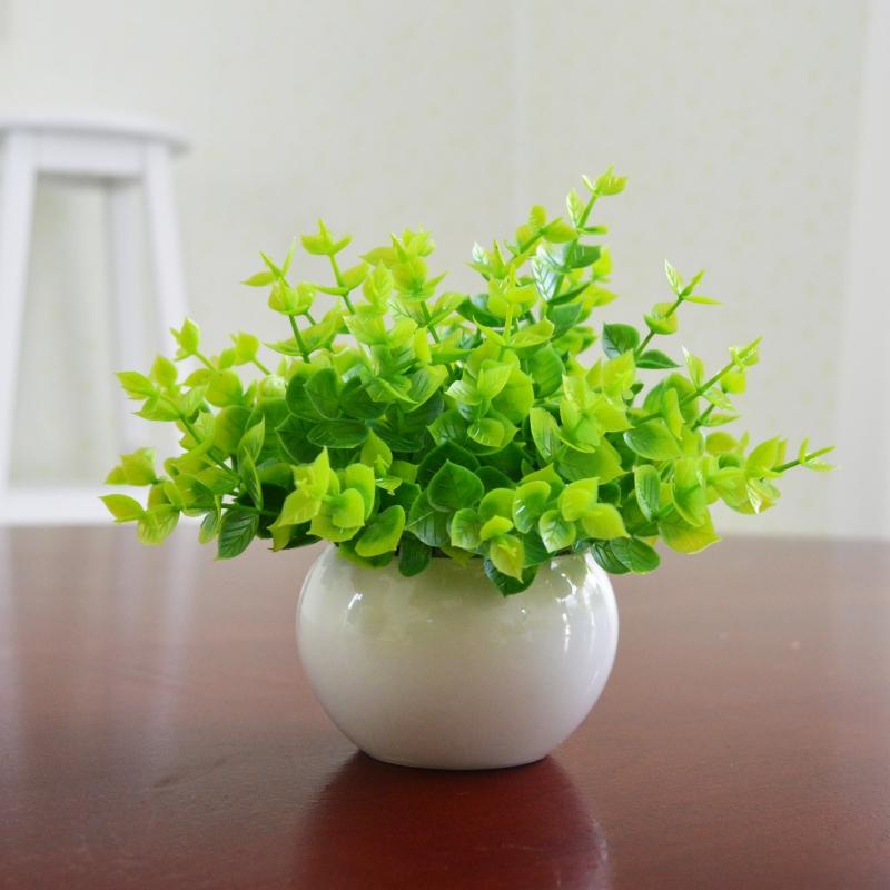 仿真绿植小盆栽景室内家居客厅装饰假绿植塑料假花米兰茶几摆设件_领取3元天猫超市优惠券