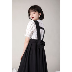 Small green onion good tailor original black strap dress female summer 2021 loose and thin a-line vest skirt