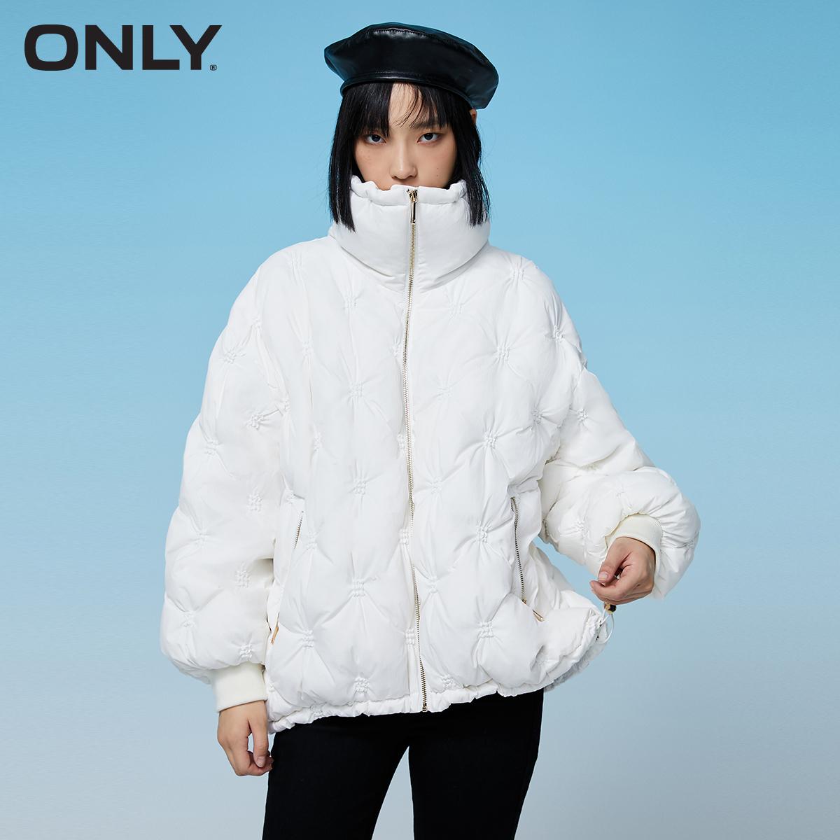 【双11预售】ONLY2021冬季新款抽褶短款泡芙羽绒服女|121423008