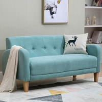 Simple fabric sofa small apartment living room furniture single double Japanese light luxury three Nordic rental house cloth sofa