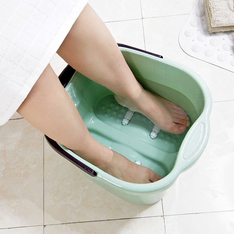 Heightening foot bath barrel plastic foot bath foot massage roller ...