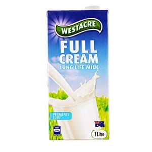 ALDI奥乐齐 WESTACRE全脂牛奶1L*6整箱装澳大利亚进口牛奶常温奶