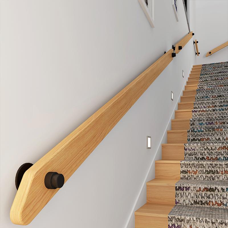 European Style Wall Solid Wood Stairs Bar Bar Corridor Loft Villa Hospital  Access Home Corridor