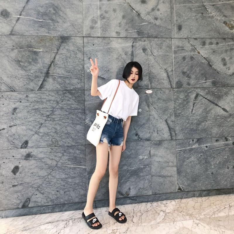 Твердый цвет белый Футболка женская короткий рукав 2018 новая коллекция Свободный студент чистый хлопок корейская версия Ульцзан дикий половина рукав рубашки
