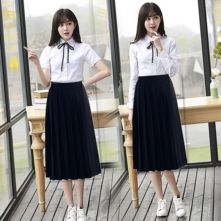 2f467b524b Korean school uniforms class clothes spring and summer dress suit High  School students college wind graduation photo couple short-sleeved JK  uniform