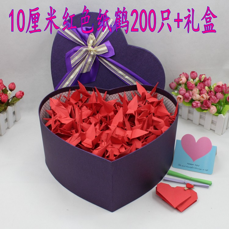 Candy Color Thousands Of Paper Cranes Finished Gift Box Handmade Origami Love Birthday Ideas