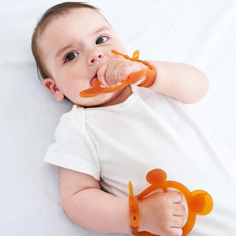 【三色可选】超可爱婴儿硅胶牙咬棒