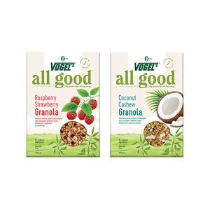 新西兰Vogels沃格尔椰子腰果*1+树莓草莓*1冲饮早餐2020/5/15效期
