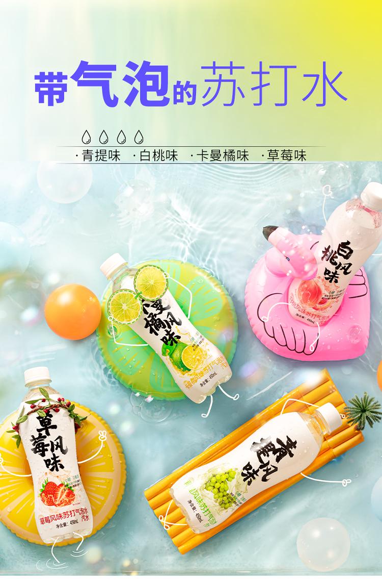 天猫超市 秋林 白桃味苏打气泡水 450mlx12瓶x2件 券后54.5元包邮 买手党-买手聚集的地方