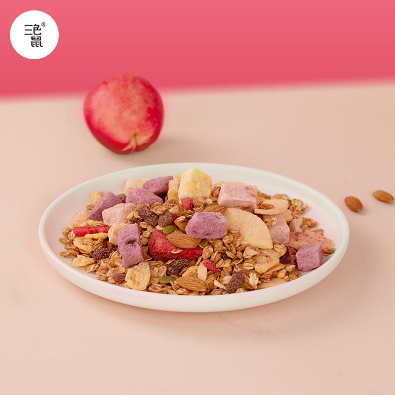 三色鼠白桃乌龙水果酸奶燕麦片营养早餐烘焙非油炸健康麦片