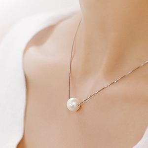 ●HISEA●天然淡水珍珠项链路路通年轻款时尚女锁骨链吊坠单颗