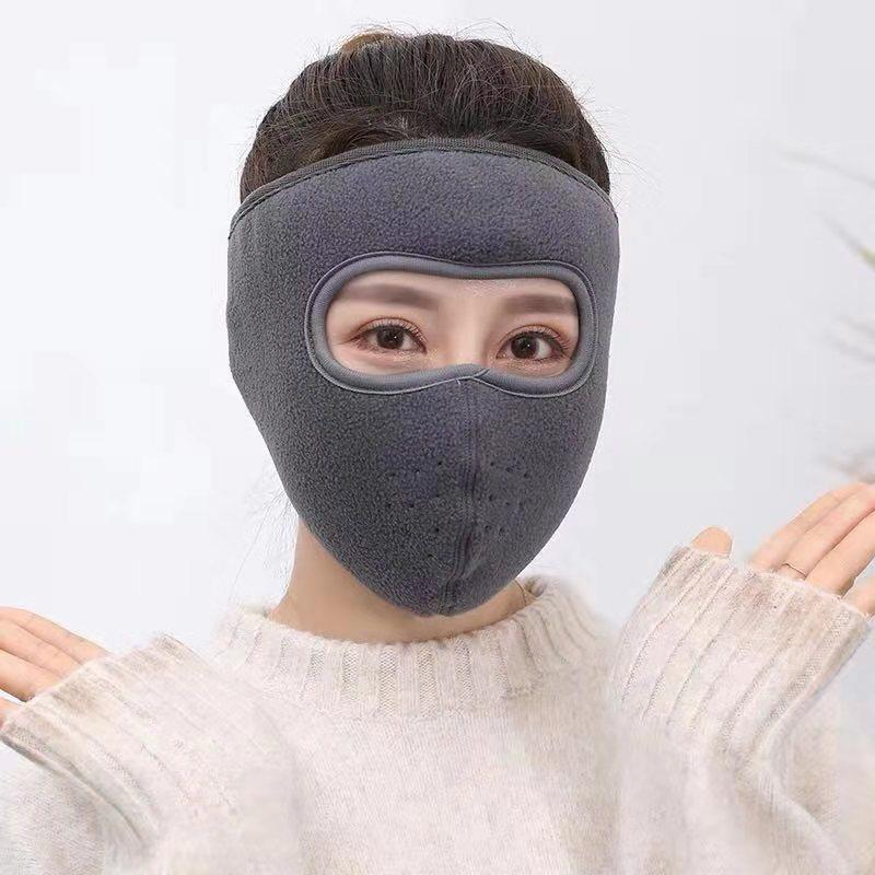 冬季保暖护耳口罩女防尘透气防寒加厚骑行护耳面罩男士防风口罩女