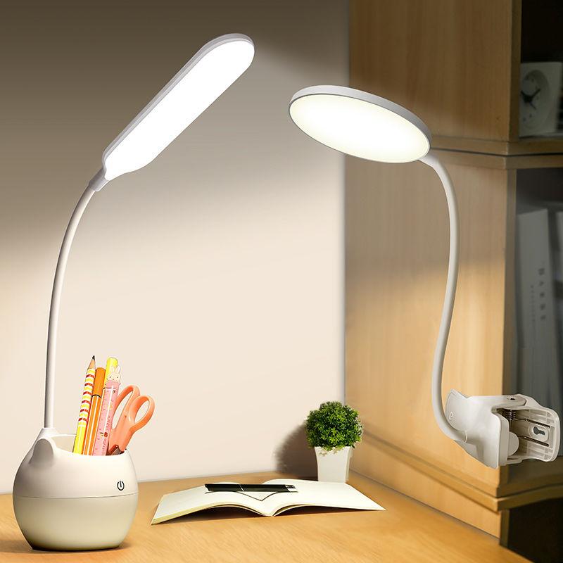 夹灯LED充电台灯护眼学习儿童大学生宿舍小台灯卧室床头灯小保24