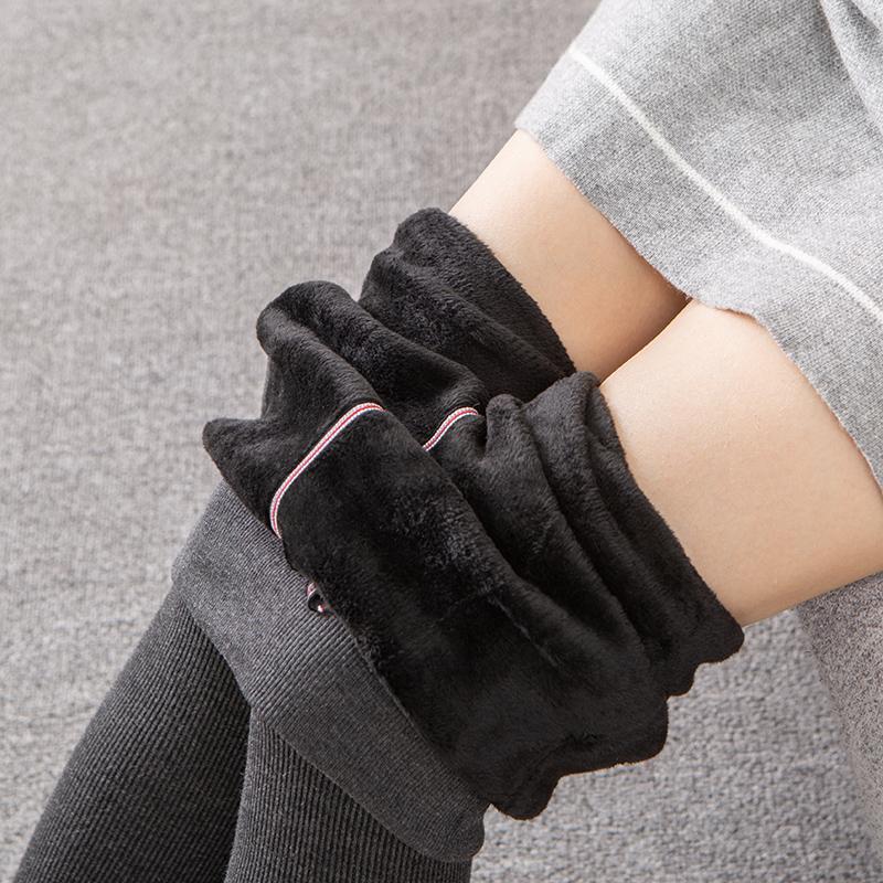 【官方直营】1900D羊绒加厚冬款保暖显瘦女连裤袜灰色外穿打底裤